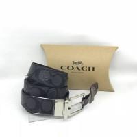 Ikat Tali Pinggang Cowok Coach Original Men Belt Signature Black