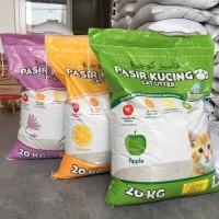 Jual Pasir kucing Kawan Cat Litter 20kg / Pasir gumpal wangi Murah