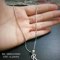Promo Kalung Nama Huruf R anti karat perhiasan korea jewelry jewellery
