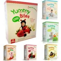 Jual Yummy Bites 6+ 50gr Makanan Biskuit Snack Bayi Baby Rice Crackers Murah