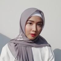 Hijab Polycotton Jilbab Poton Square Segi Empat Abu Muda