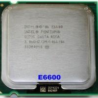 cpu intel lga 775 processor core 2 duo e6600 2.4ghz 1066mhz