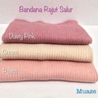 Bandana Rajut Salur Premium | Inner Hijab Jilbab