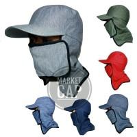 Topi Jepang Masker Samping I Topi Mancing I Topi Gunung I Topi