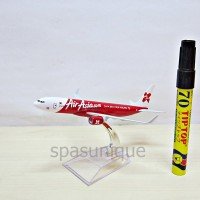 Pajangan Miniatur Diecast Pesawat Air Asia.com