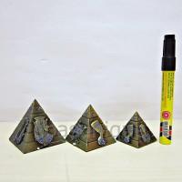 Pajangan Miniatur Pyramid isi 3