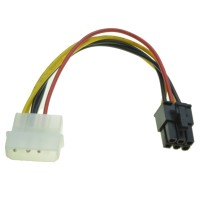 KABEL POWER VGA / ADAPTER 1 MOLEX TO 6 PIN / 6PIN PCIE / PCI-E