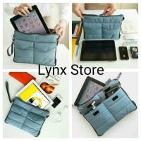 Jual NEW Organizer Bag Android Pouch Tas Handphone Laptop Storage Dual Bag Murah