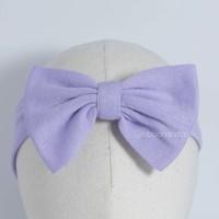 Stretchy Bow Purple / pita anak/ pita bayi / Ribbonandco Headband Bayi