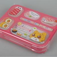 Jual [ITEM 589] LUNCH BOX Kotak Makan YOOYEE kotak bekal sekat 6 Anti Bocor Murah