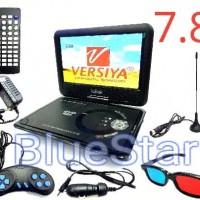 DVD PORTABLE LED 7.8 inch USB - SD Card - TV Tuner Diskon
