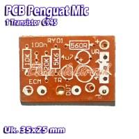 PCB Penguat Mic Preamp Mic 1 Transistor C945 C 945
