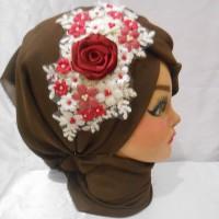 Jual Wedding Hairpiece wisuda Headpiece pesta aksesoris pengantin hijab Murah