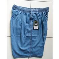 Harga Celana Kolor Pendek Jeans Karet Pria Wanita Polos HR 701 | WIKIPRICE INDONESIA