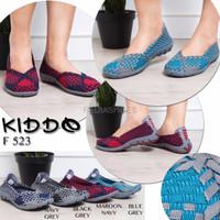 Sepatu Anyaman Wanita Kiddo Shoes Flat F 523 Original with Box