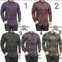 Jual Baju Kemeja Pria Songket Batik Hijau Tosca Keren Gaya Trendy Murah