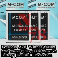 BATERAI CROSS EVERCOSS A75 WINNER Y MAX DOUBLE POWER PROTECTION