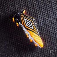 Sepatu Bola umbro Medusae pro FG Orange Pop White Black