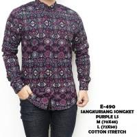 songket batik modern long purple songket batik keren gaya trendy