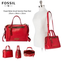 Fossil Bella Small Satchel Real Red