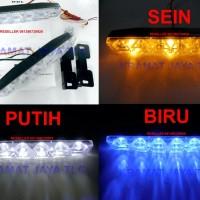 Drl Lampu Senja 9 Led Super Dilengkapi Lampu Sein Sepasang Waterproof