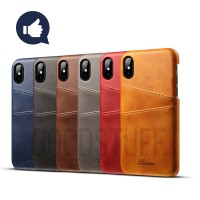 Premium Card Slot Leather Case iPhone X/6/6s/7/8 plus casing hp kulit