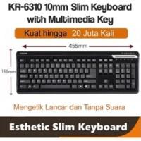 i-Rocks/iRocks slim keyboard usb wired ,w/ multimedia button KR6310