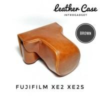 Leather Case XE2 XE2S Fujifilm Fuji Cover Bag Tas Kamera (Brown)