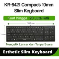 I-Rocks/iRocks Esthetic Slim Keyboard Compact Usb Wired KR6421