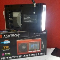 Jual Dhy Three Shop Radio Asatron R-1068 9 bands USB+Lampu emergency/Radio Murah