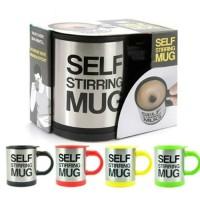 Jual Gelas mug self stirring aduk Otomatis Stainless steel Coffee Magic Murah