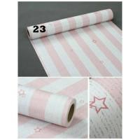 Jual Grosir Murah-Wallpaper Sticker Dinding garis pink bintang  10M x 45cm Murah