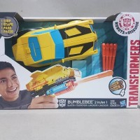 Mainan action figure Transformers Bumblebee nerf 2 in 1 full artik