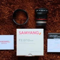 Jual Samyang 12mm F2 NCS CS for Fujifilm Fuji X Series 12 mm F 2 Murah