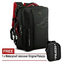 Jual Paket Tas Ransel Laptop Multifungsi Palazzo 34685 & Raincover RC 03 Murah