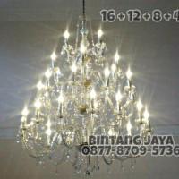 Jual Lampu Kristal Bakso Lilin 40 - 4 Susun [Free Bohlam LED] Murah
