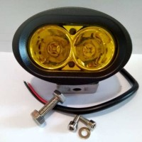 Jual Lampu Tembak/Sorot Motor LED 2 Mata OWL Kuning Warm White Murah