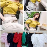Jual Eleanor Top Import / Crop Top / Sabrina / Atasan / BKK / Baju Murah Murah
