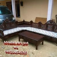 Kursi Tamu Sudut Mahkota (furniture, sofa, nakas, rak, bufet, lemari)