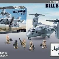 LEGO BRICKS DECOOL BELL BOEING V-22 MILITARY HUMVEE 318 pcs