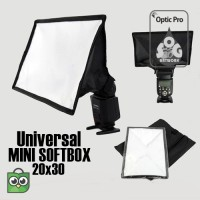 Universal Flash Diffuser Box (MINI SOFTBOX) 20x30cm