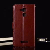 Casing Zenfone 3 Max ZC520TL Leather Kulit FLIP COVER WALLET Case HP