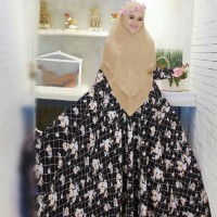 Grosir Murah!! Maxi gamis syari wolfis black rose KTA