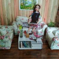 Jual sofa set barbie EXC_04 Murah