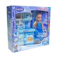 Jual Cook Fun Kitchen Frozen With Doll SY203082 - Mainan Masak-Masakan Murah