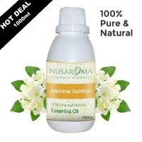 1000ml - Jasmine Sambac Essential Oil (minyak Melati) Pure and Natural