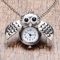 Jual Jam Tangan Wanita Murah Jam Kalung Pocket Watch Owl Kecil Aksesoris S Murah
