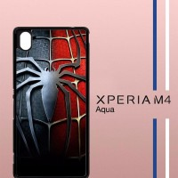 Spiderman Logo Suit Casing Custom Hardcase Hp Sony Xperia M4 M4 Aqua