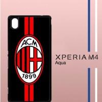 AC Milan Logo Casing Custom Cover Hardcase Hp Sony Xperia M4 Aqua Ca