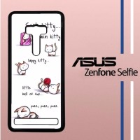 Soft Kitty Casing Custom Hardcase Hp Asus Zenfone Selfie Case
